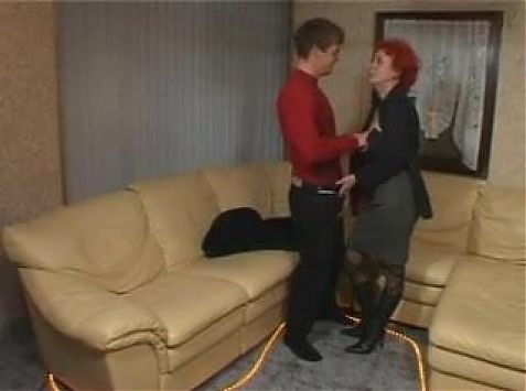 horny redhaired granny fucked in all holes
